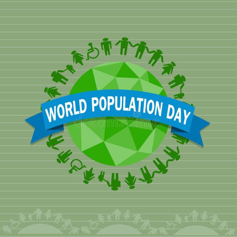 Día de la población de mundo stock de ilustración