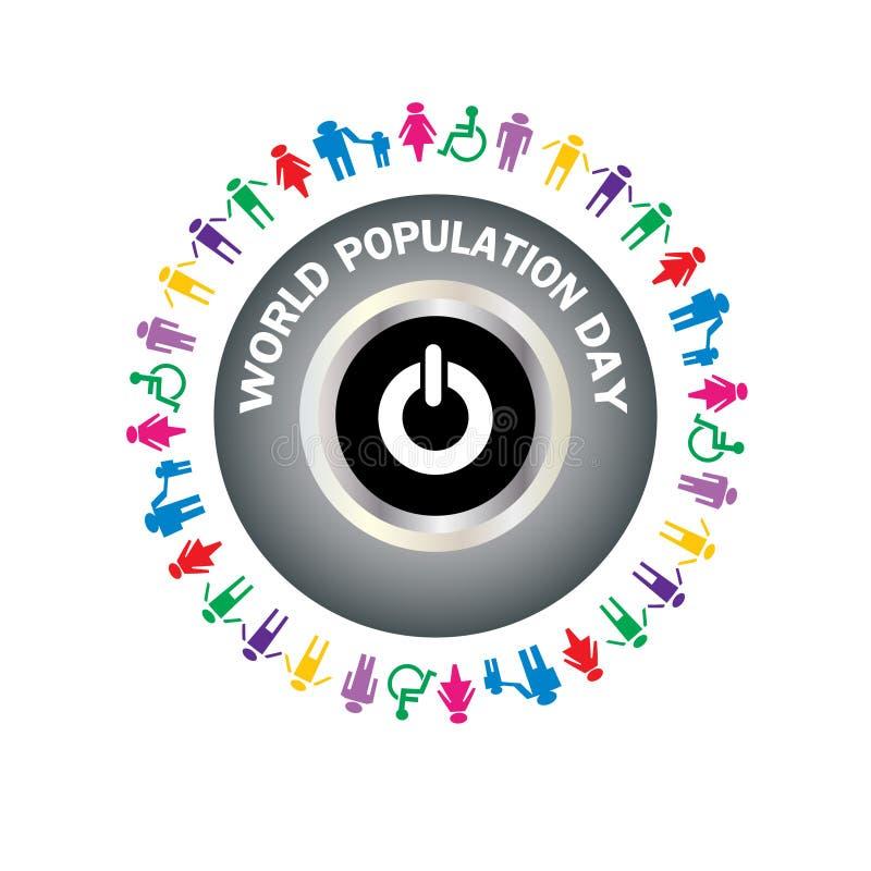 Día de la población de mundo - ejemplo ilustración del vector