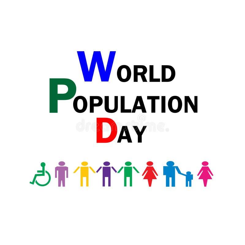 Día de la población de mundo - ejemplo libre illustration