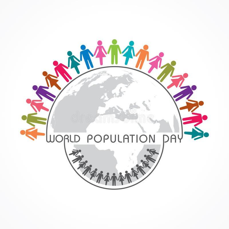 Día de la población mundial que saluda 11 de julio stock de ilustración