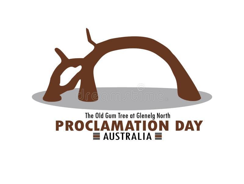 Día de la proclamación de sur de Australia imagenes de archivo