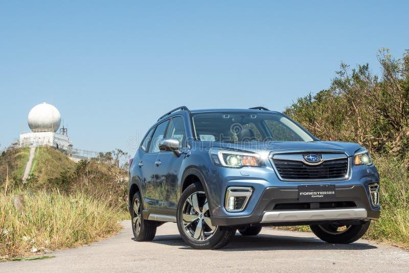 Día de la prueba de conducción del silvicultor 2018 de Subaru imágenes de archivo libres de regalías