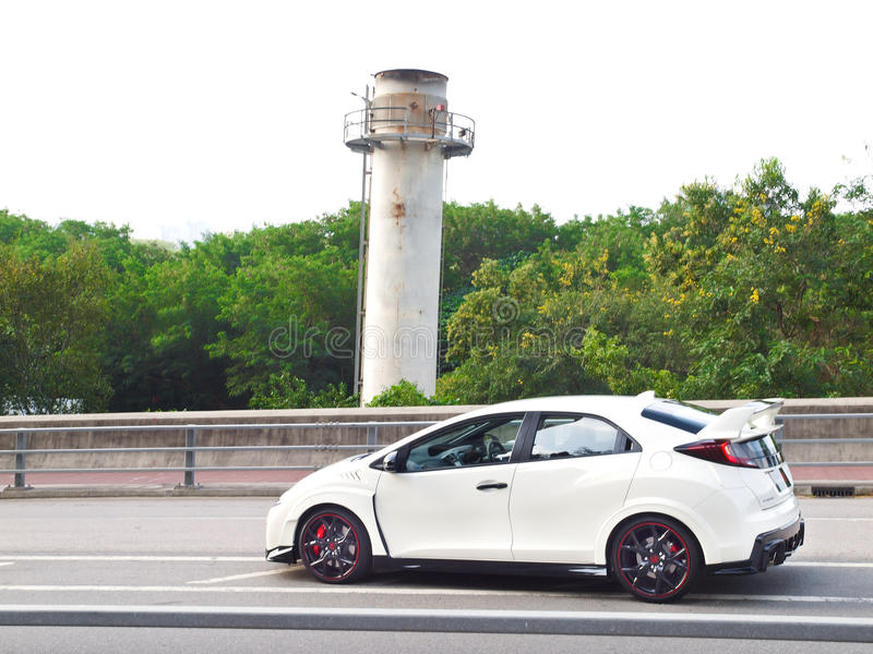 Día de la prueba de conducción de Honda Civic 2015 fotografía de archivo libre de regalías