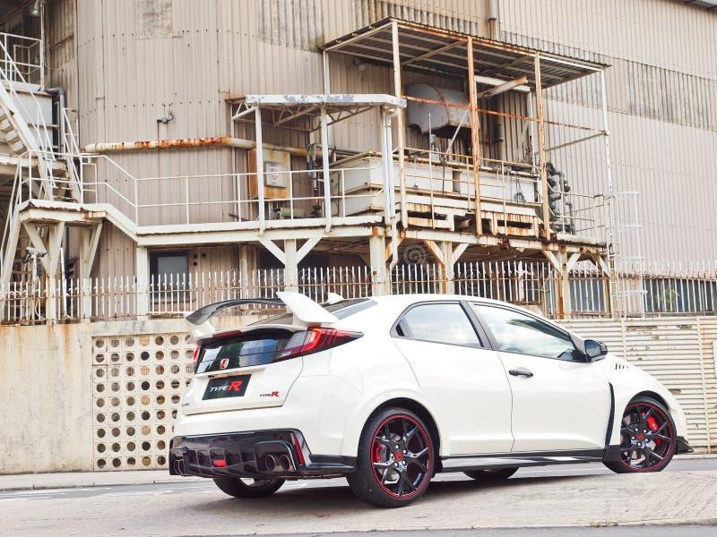 Día de la prueba de conducción de Honda Civic 2015 imagen de archivo