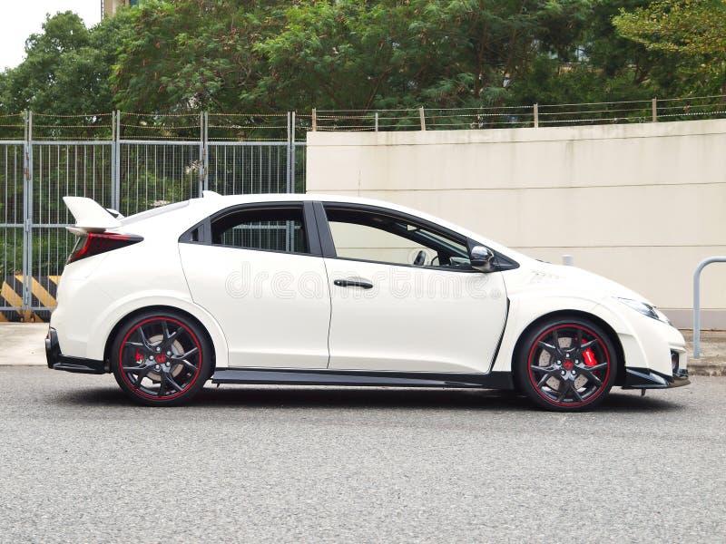 Día de la prueba de conducción de Honda Civic 2015 imagenes de archivo