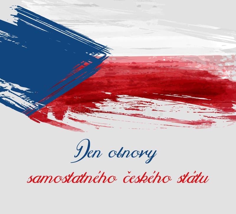 Día de la restauración del fondo checo independiente del estado libre illustration