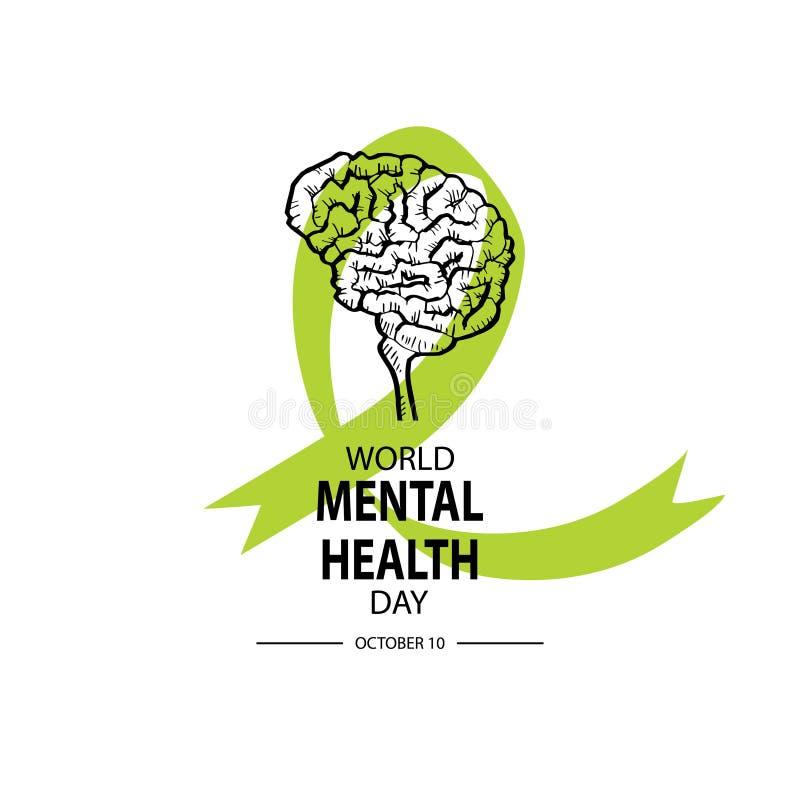 Día de la salud mental del mundo stock de ilustración