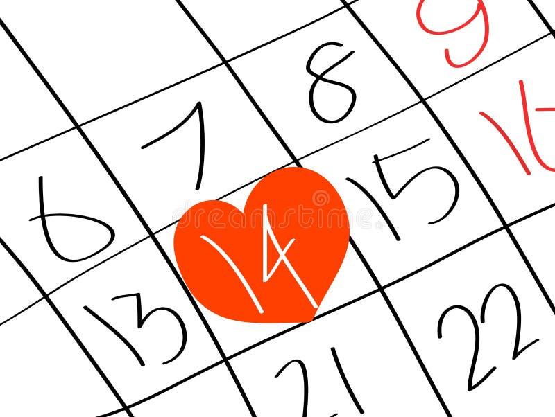 Día de la tarjeta del día de San Valentín s ilustración del vector