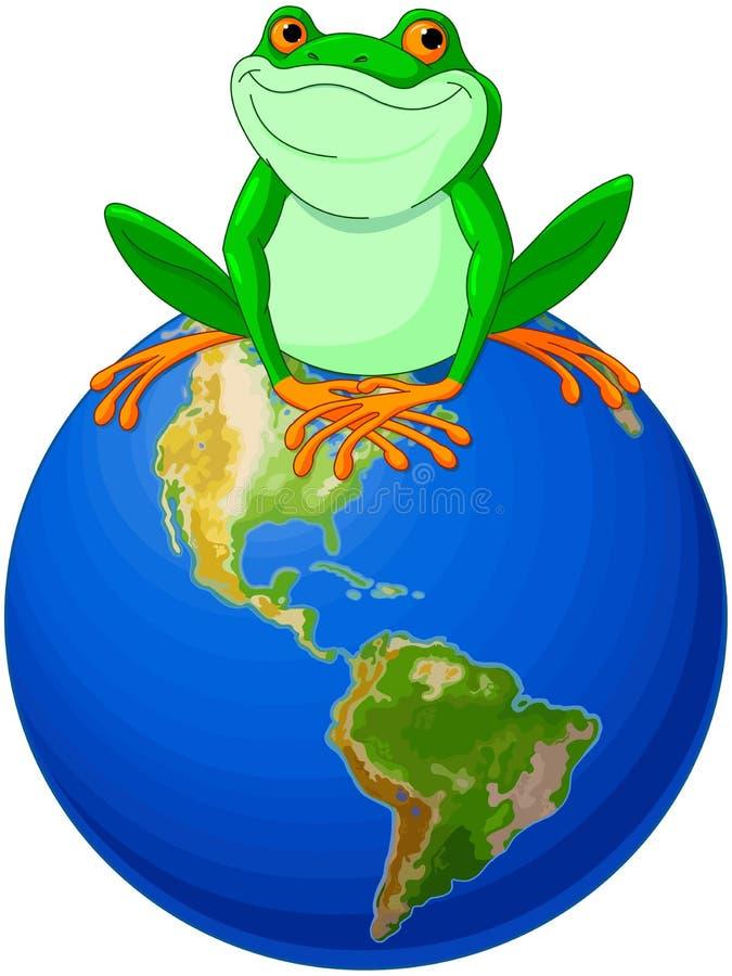 Día de la Tierra de la rana libre illustration