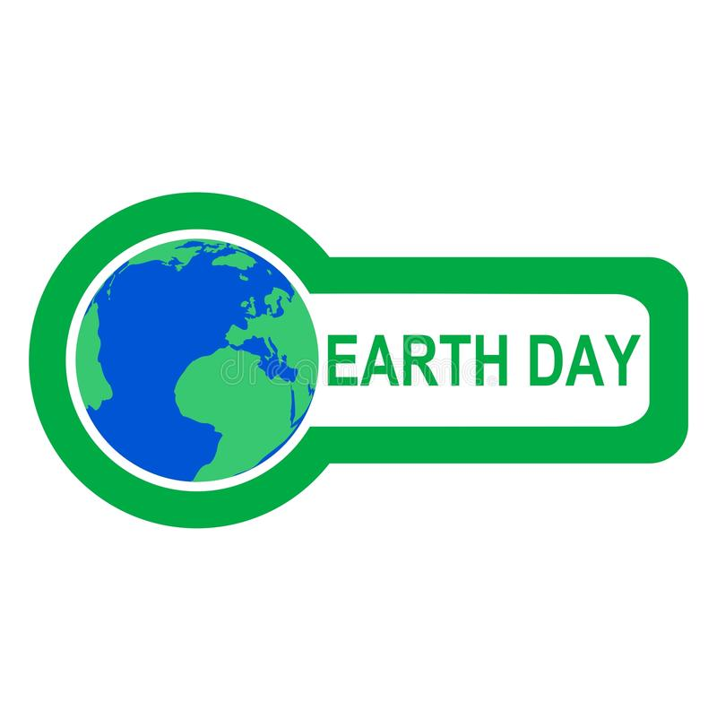 Día de la Tierra - ejemplo stock de ilustración