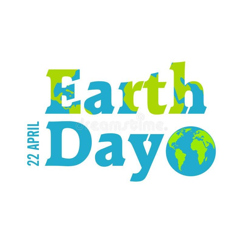 Día de la Tierra en azul Ilustración del vector libre illustration