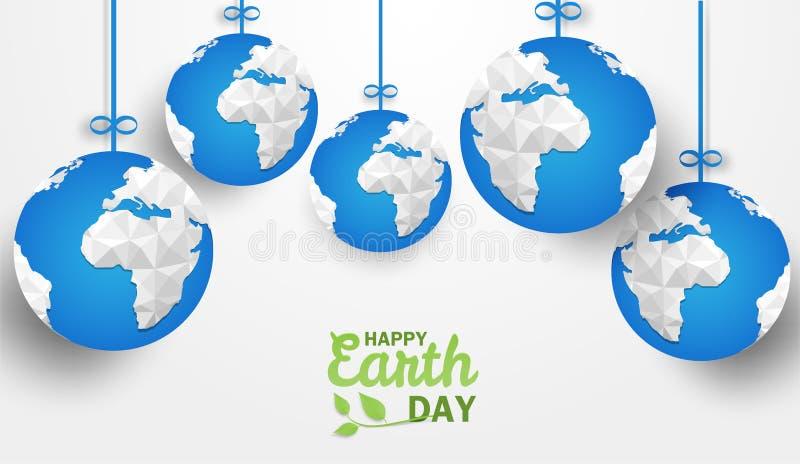 Día de la Tierra feliz Concepto de la ecología, libre illustration