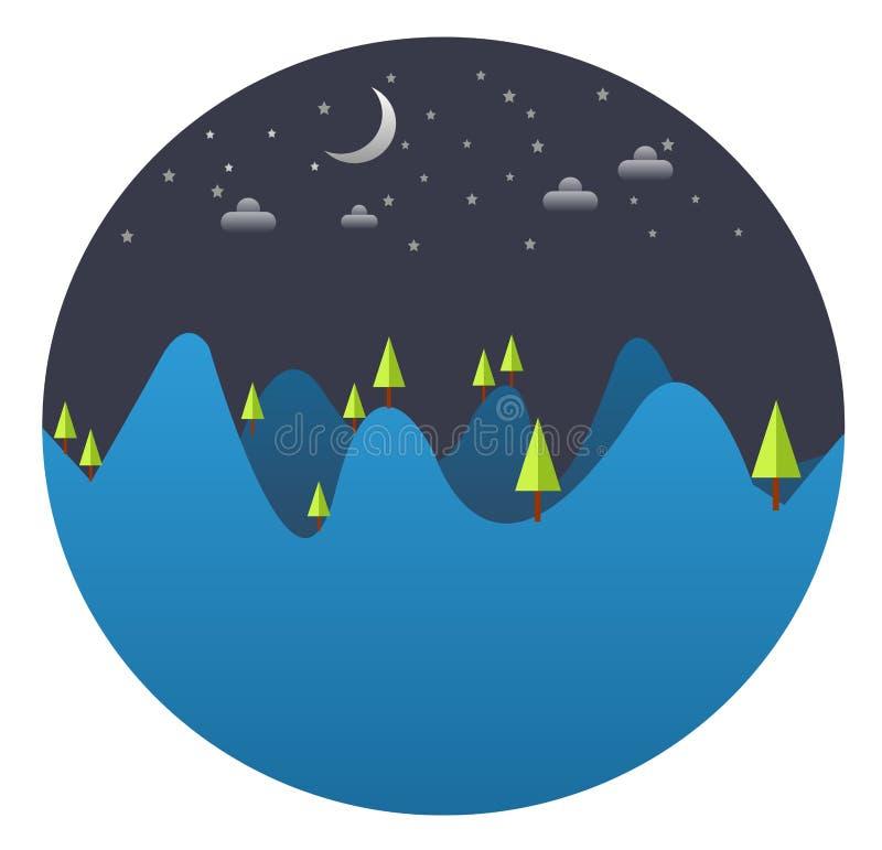 Día de la Tierra: Noche hermosa de la tierra stock de ilustración