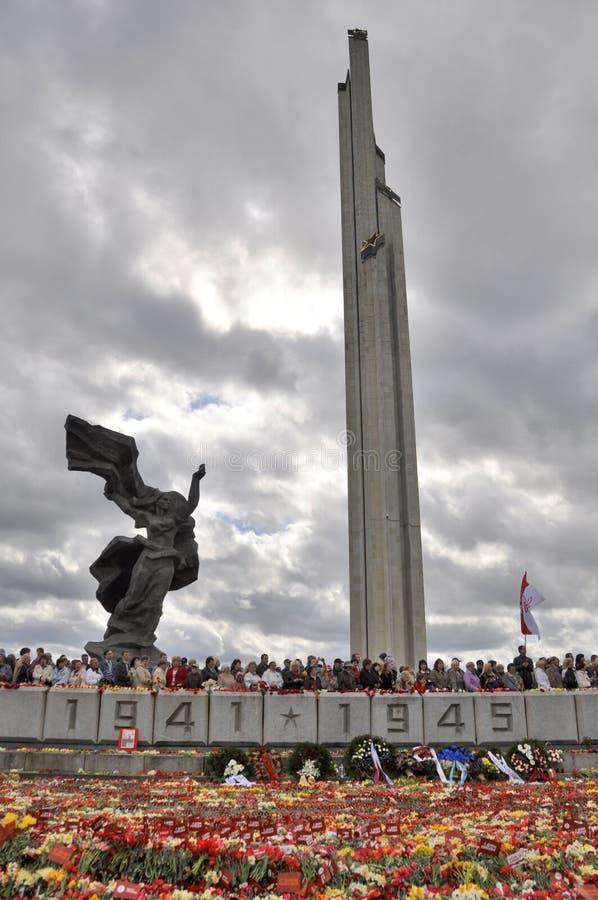 Día de la victoria, Letonia fotografía de archivo libre de regalías