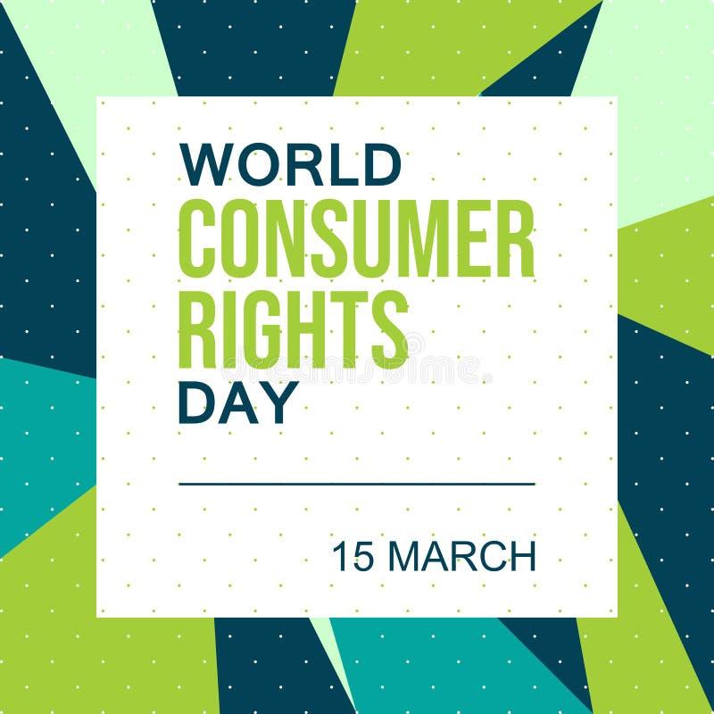 Día de las derechas de consumidor del mundo 15 de marzo - vector stock de ilustración