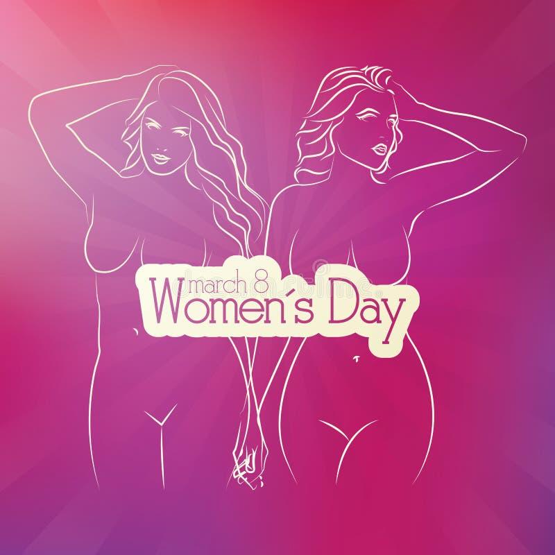 Día de las mujeres ilustración del vector