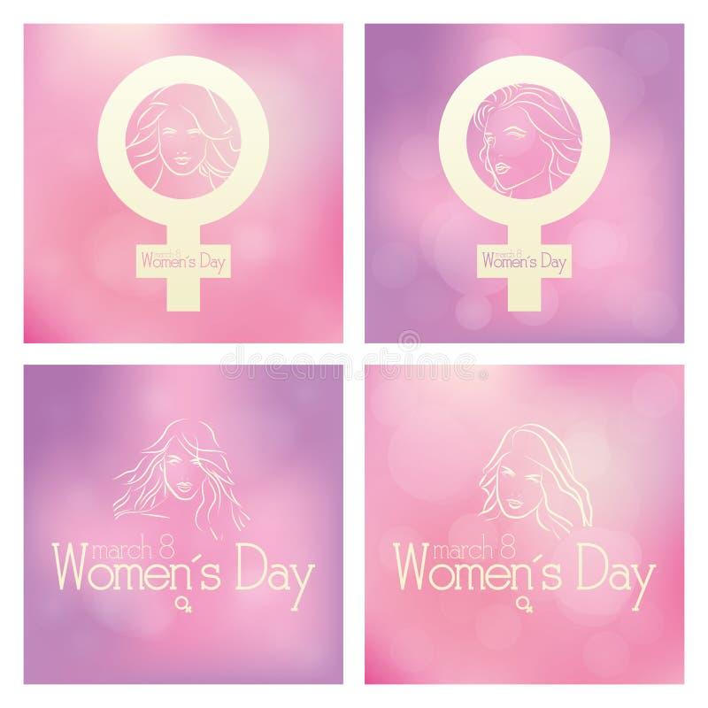 Día de las mujeres stock de ilustración