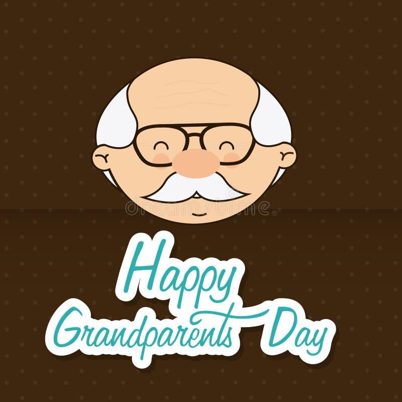 Día de los abuelos stock de ilustración