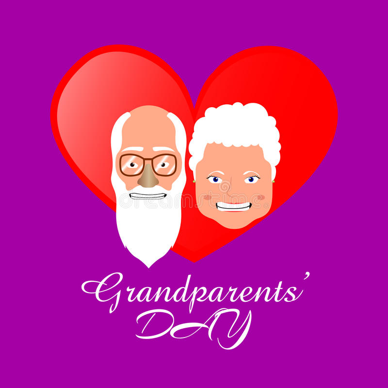 Día de los abuelos ilustración del vector