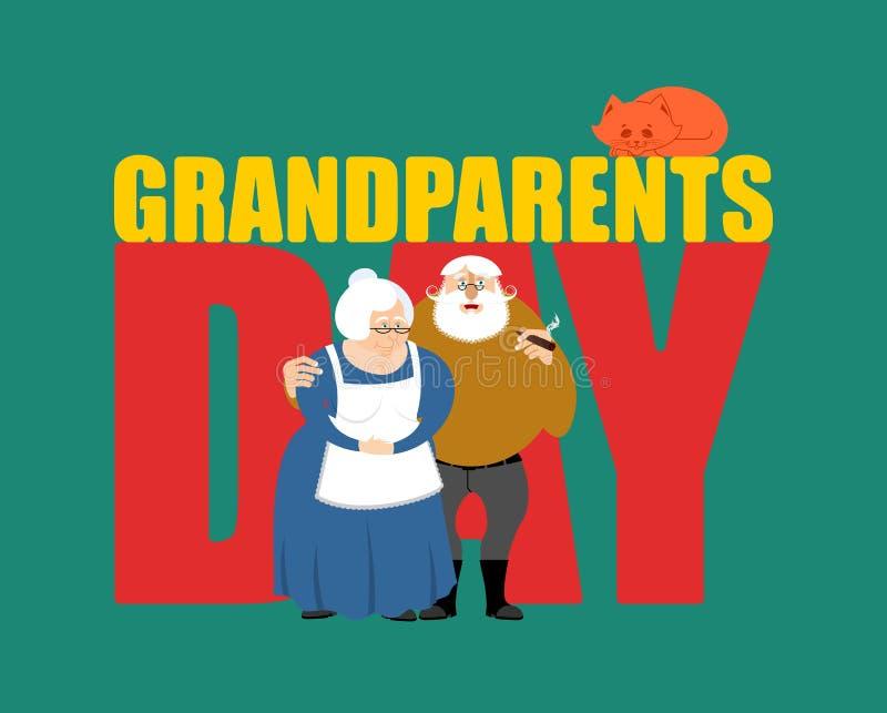 Día de los abuelos Abuela y abuelo Pares maduros ilustración del vector