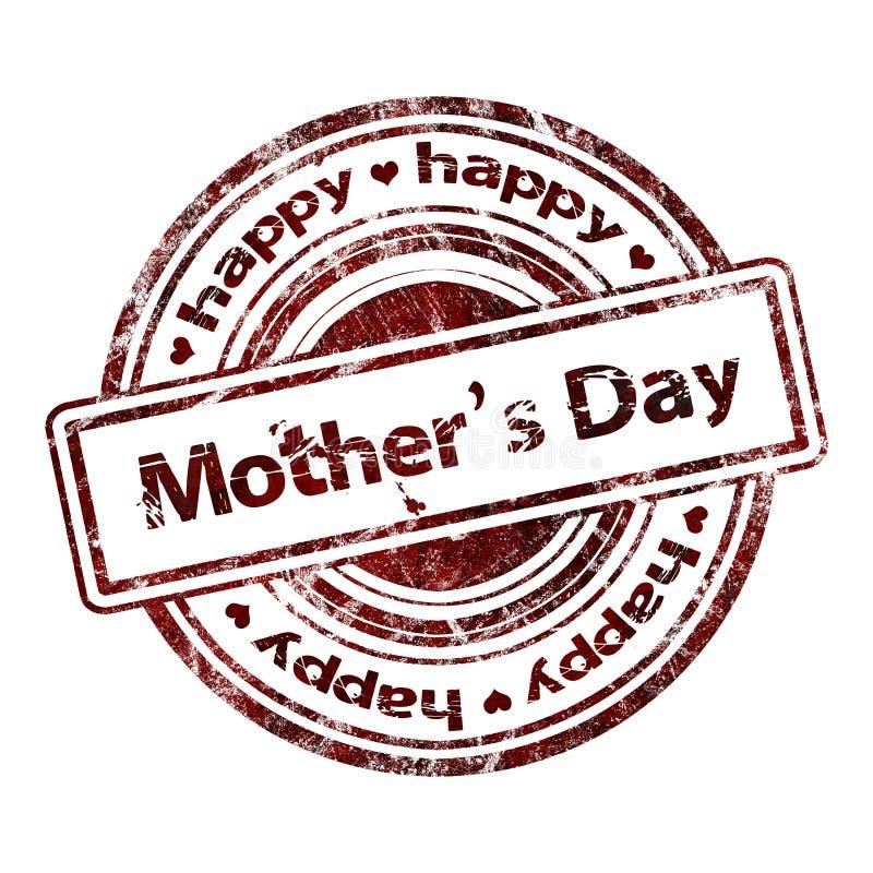 Día de madre el 'feliz 'del Grunge sello de goma libre illustration