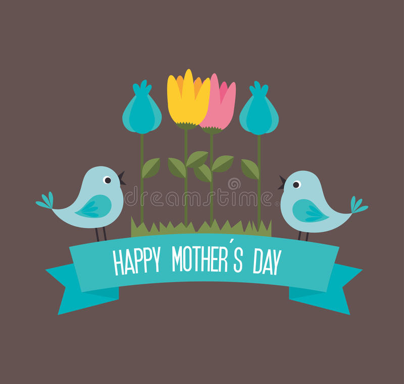 Día de madres ilustración del vector