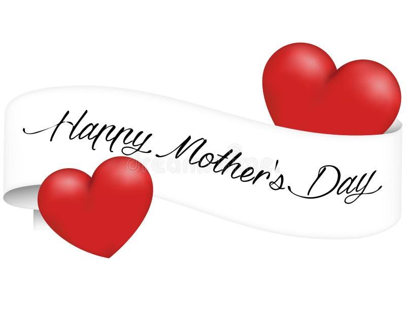 Día de madres de la bandera ilustración del vector