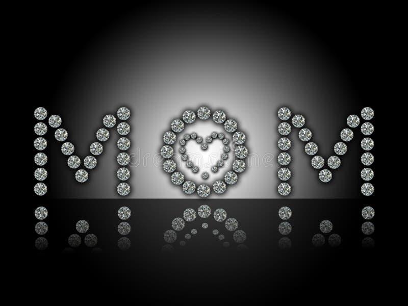 Día de madres feliz, MAMA ilustración del vector