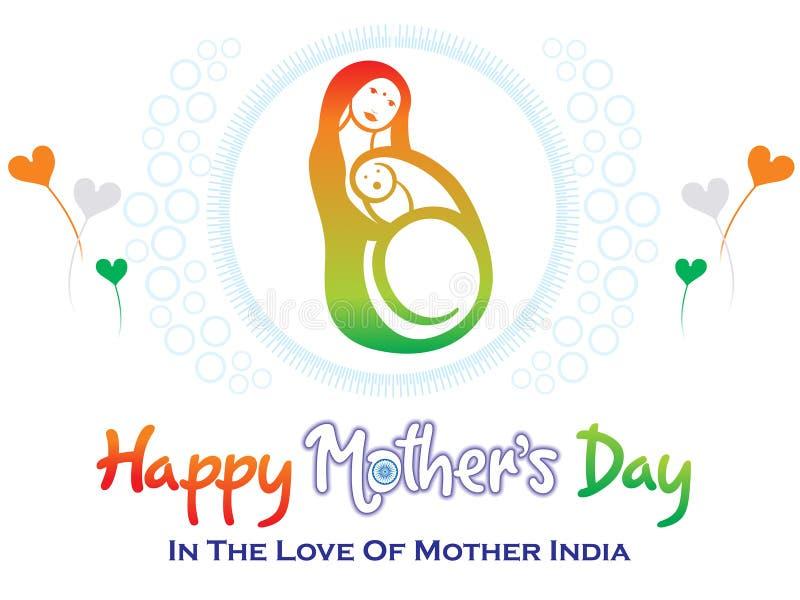 Día de madres indio artístico abstracto libre illustration