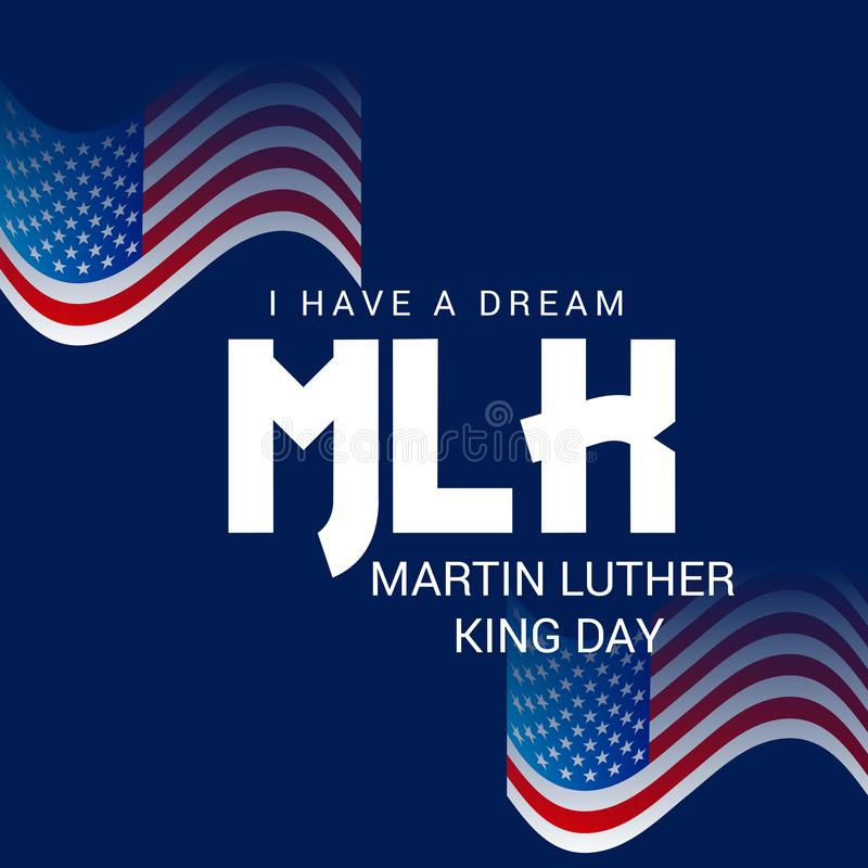 Día de Martin Luther King ilustración del vector
