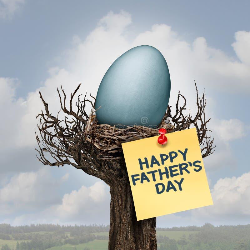 Día de padre feliz stock de ilustración