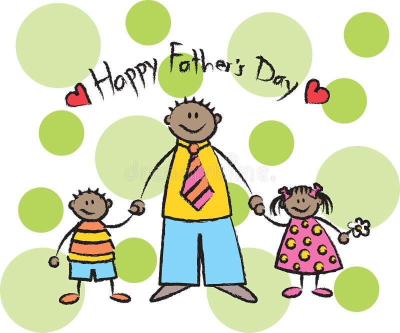 Día de padre feliz - obscuridad stock de ilustración