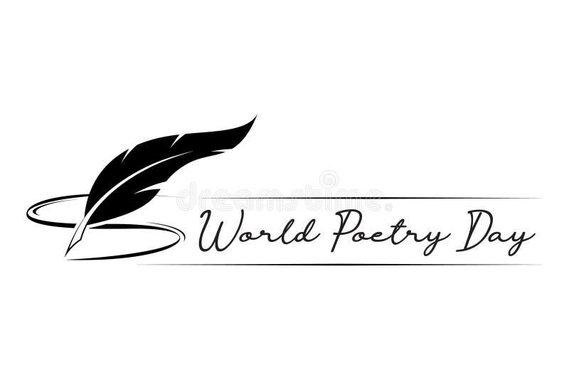Día de poesía de mundo 21 de marzo ilustración del vector