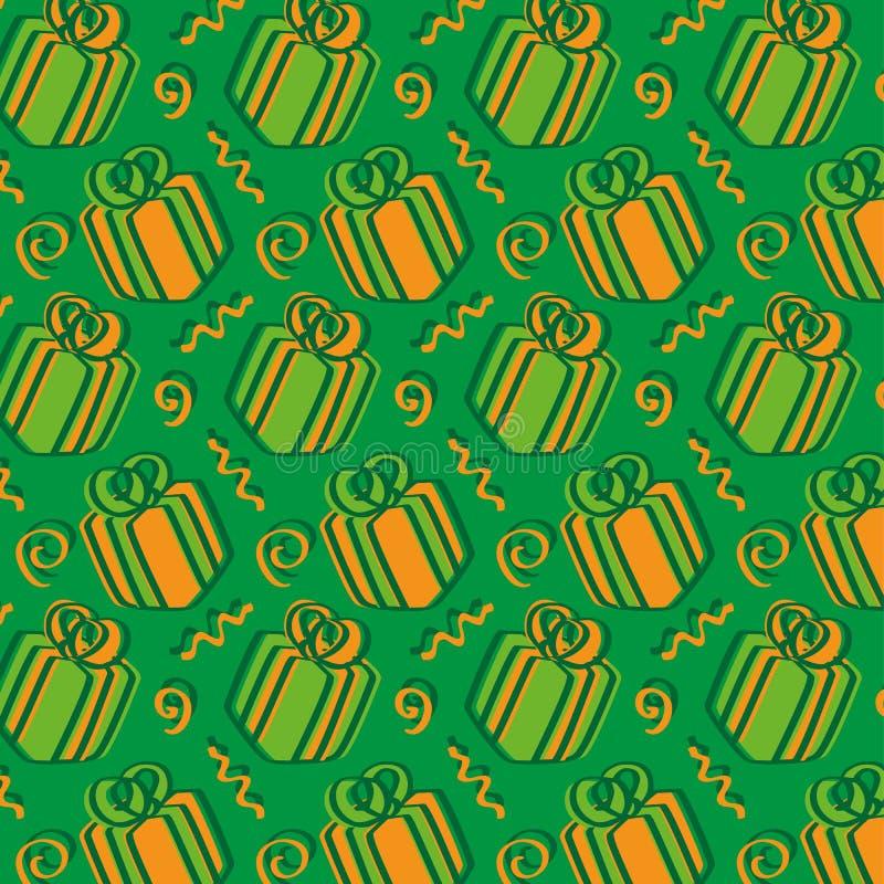 Día de presentes - verde y naranja fotografía de archivo libre de regalías