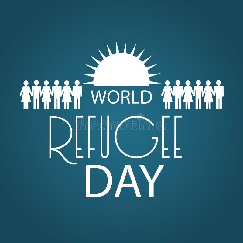 Día de refugiado de mundo ilustración del vector