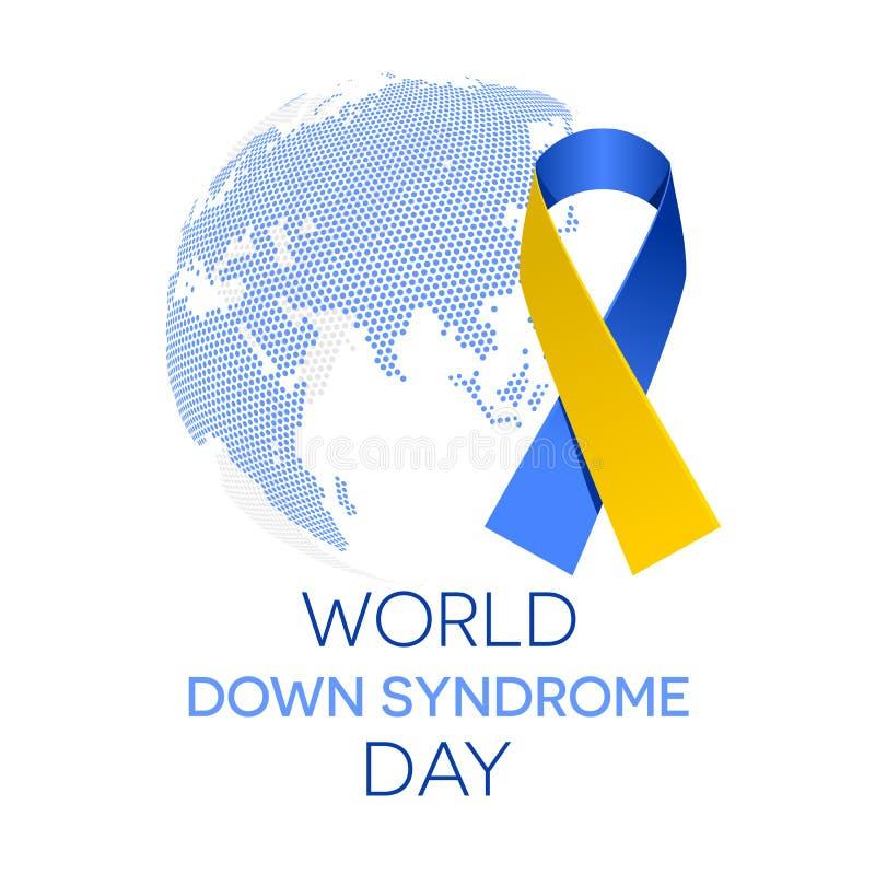 Día de Síndrome de Down del mundo stock de ilustración