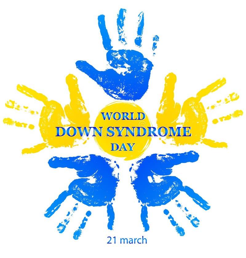 Día de Síndrome de Down del mundo ilustración del vector