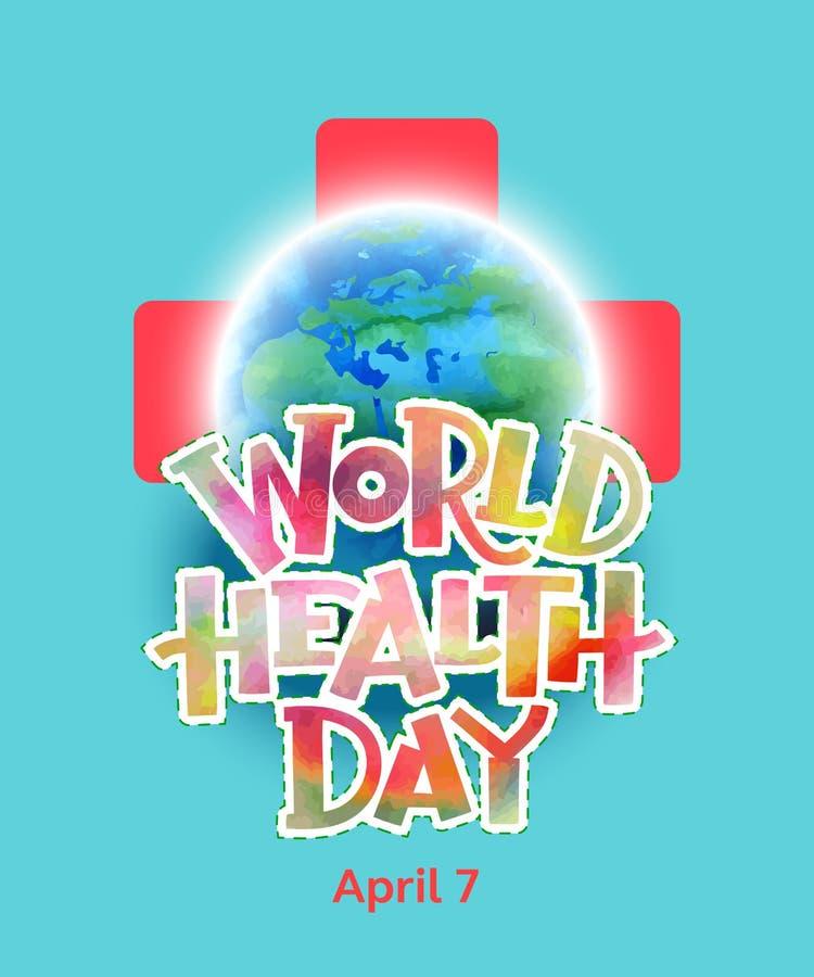 Día de salud de mundo ilustración del vector