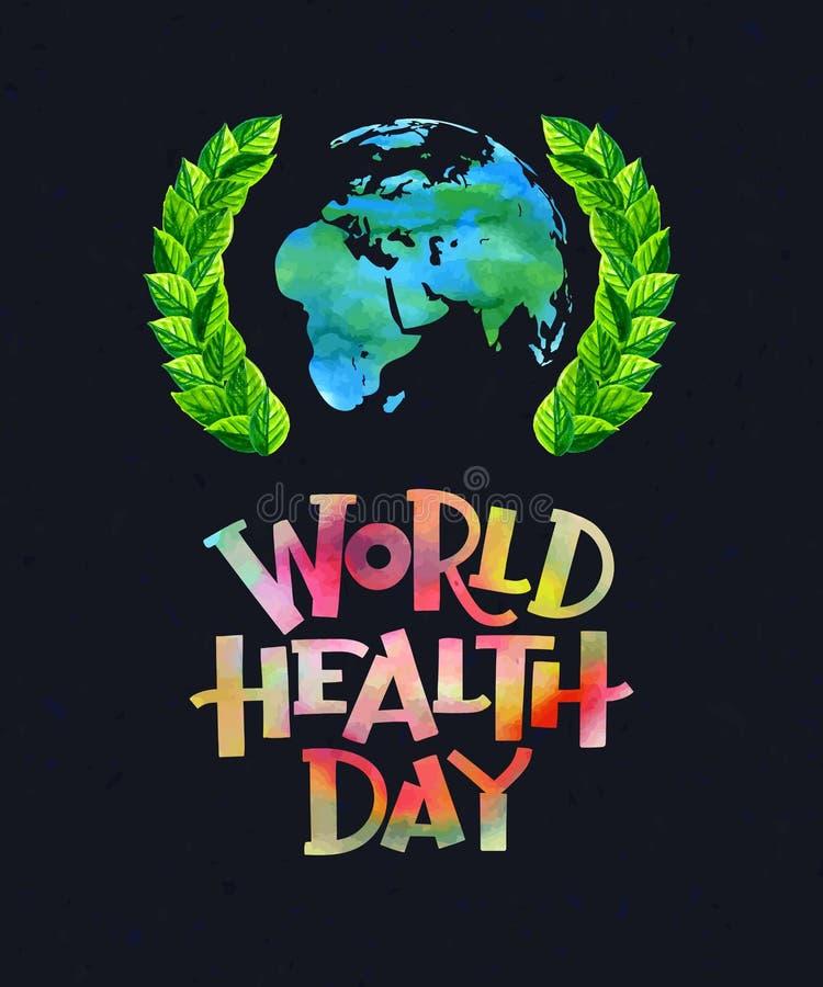 Día de salud de mundo stock de ilustración
