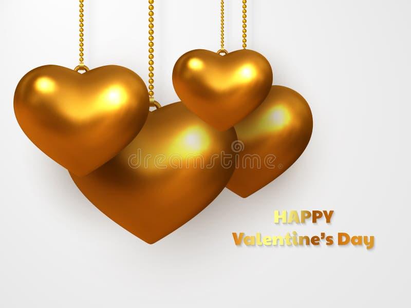 Día de San Valentín, casandose concepto decorativo del amor libre illustration