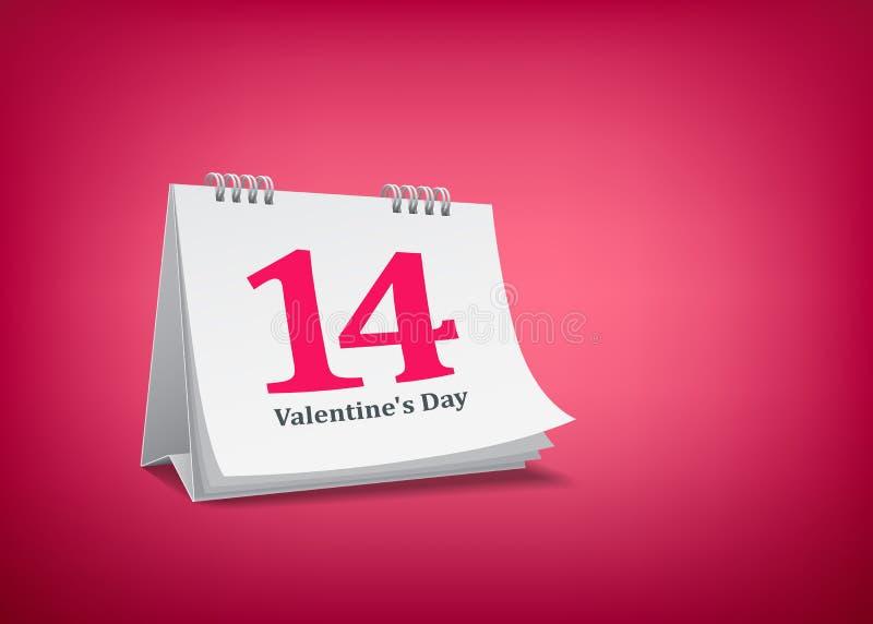 Día de San Valentín del calendario stock de ilustración
