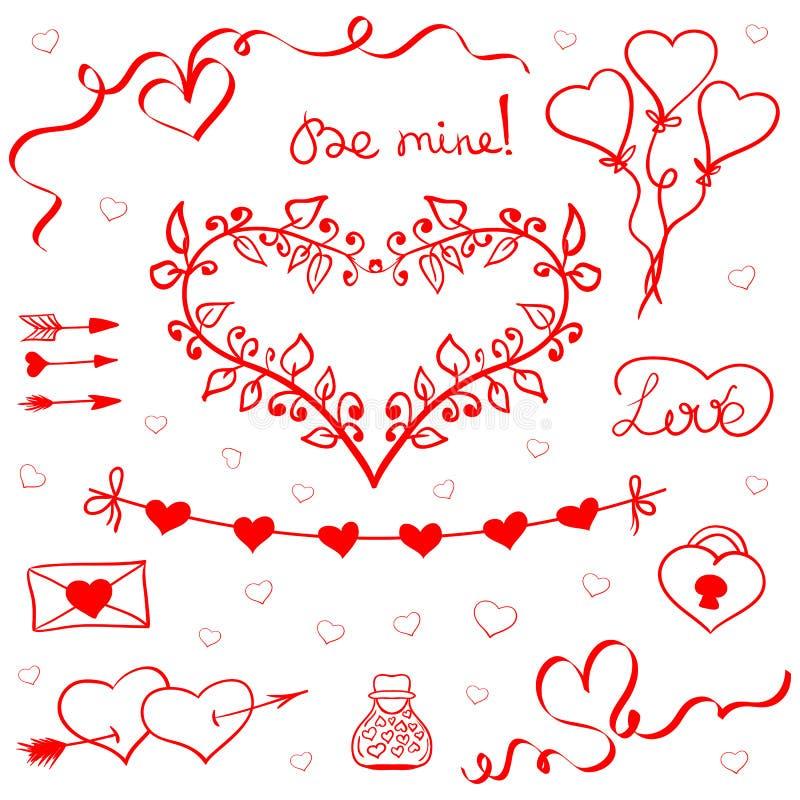 Día de San Valentín garabatea vector libre illustration