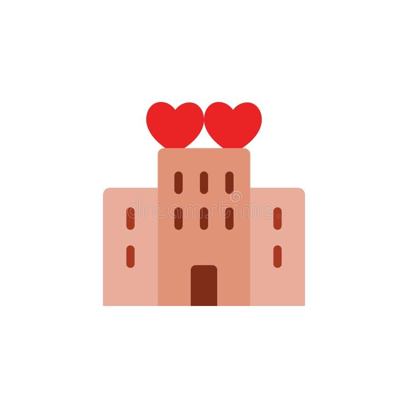 Día de San Valentín, icono de los días de fiesta Elemento del icono del día de San Valentín de la web para los apps móviles del c stock de ilustración