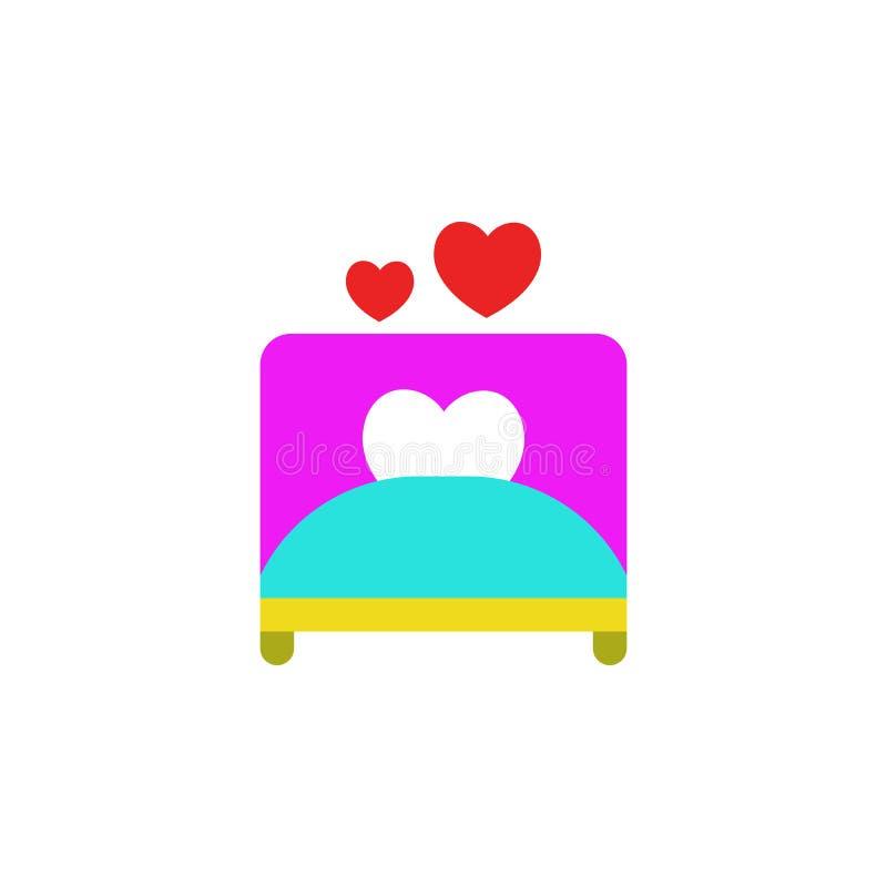 Día de San Valentín, malo, icono del amor Elemento del icono del día de San Valentín de la web para los apps móviles del concepto ilustración del vector