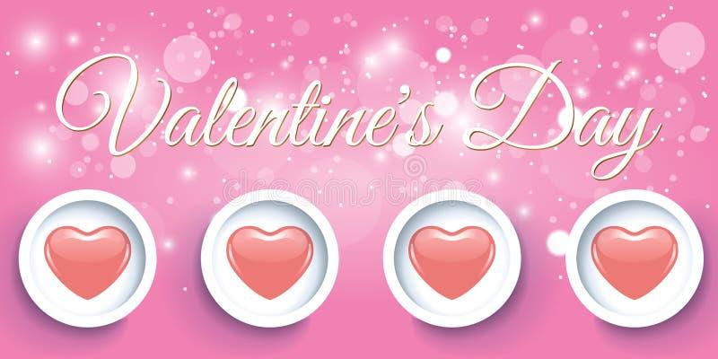Día de San Valentín rojo creativo de la bandera del corazón foto de archivo libre de regalías