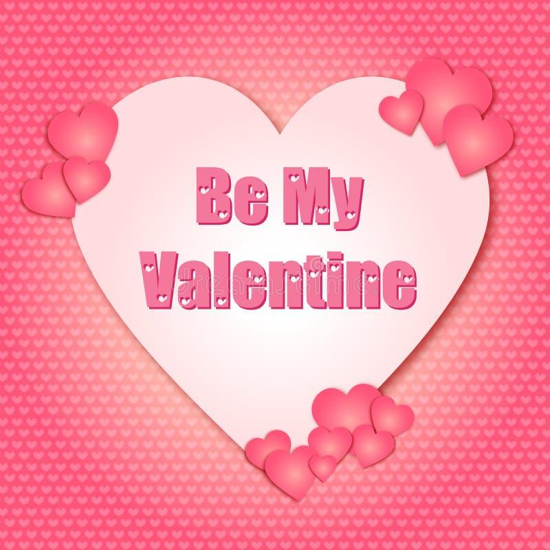 Día de San Valentín sea mi Valentine Hearts libre illustration