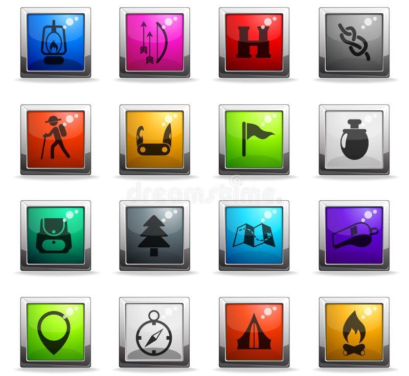 día de sistema del icono de los exploradores libre illustration