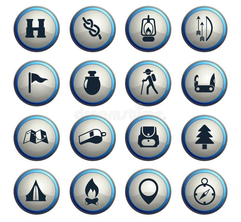 día de sistema del icono de los exploradores ilustración del vector