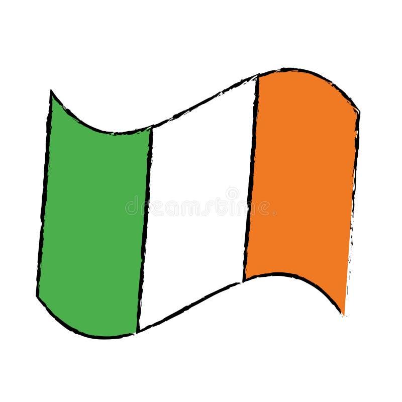 Día de St Patrick de la celebración de la bandera de la historieta stock de ilustración