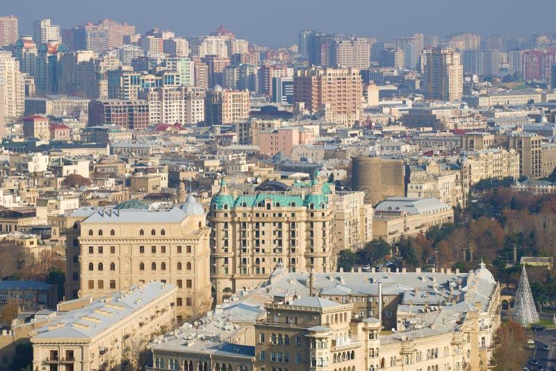 Día de Sunny December sobre la parte central de Baku azerbaijan imagen de archivo libre de regalías